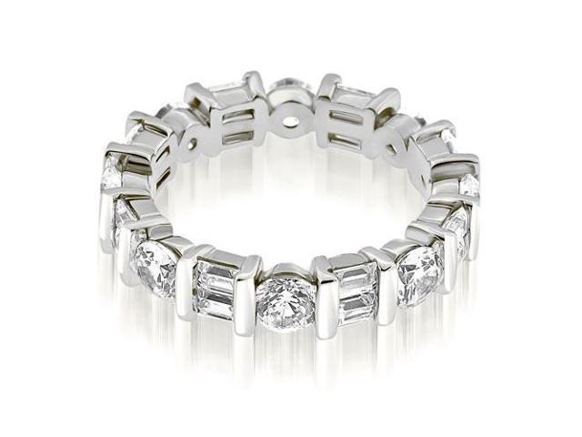 7b347884db7cb 2.25 cttw. Modern Bar Set Round Baguette Diamond Eternity Ring in Platinum  - Newegg.com