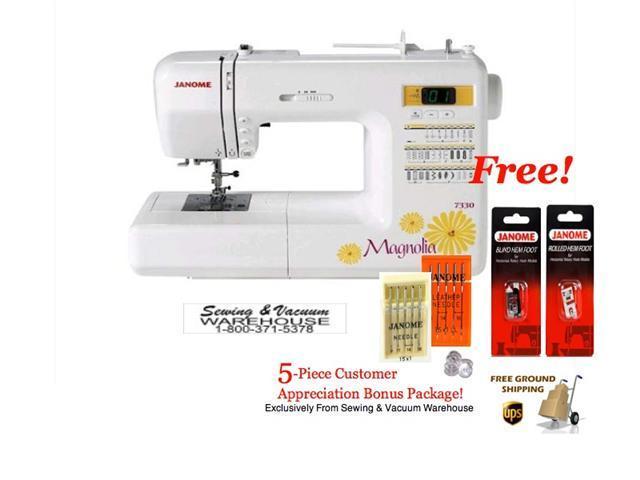 Janome Magnolia 40 Computerized Sewing Machine WFREE 40Piece Impressive Janome Magnolia 7330 Sewing Machine