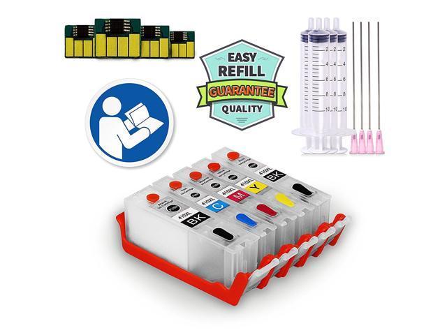 INKUTEN 5 Refillable Cartridges for 410 T410 410XL Easy-to-refill for  Expression Premium XP-530 XP-630 XP-830 XP-635 XP-640 XP-645 XP-900 XP-540  -