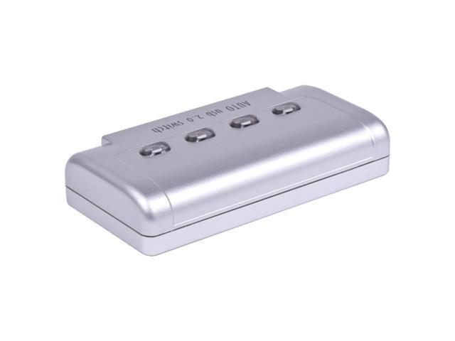 4 Port USB 2.0 Auto Sharing Switch Slector Box Hub Switcher For