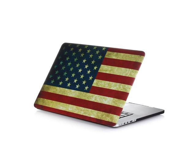 finest selection 81bc5 02a97 MacBook Air 13 inch Case US America Flag - Rubberized Matte Hard Snap-on  Shell protective Cover Skin for Apple MacBook Air 13.3