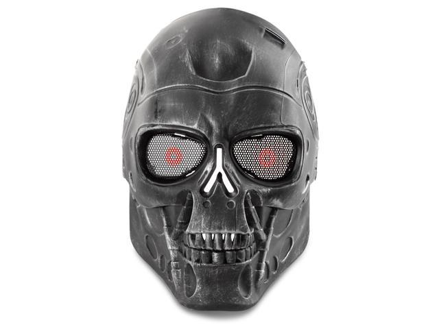 Airsoft Paintball Mask Full Face Skull Skeleton Metal Mesh Eye Bb Field Protection Safety Guard Cosplay Terminator T800 T2000 Machine Style For Outdoor Activity Hunting Wargame Cosplay Newegg Com
