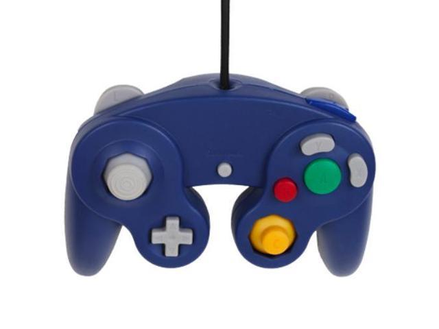 Gamecube Controller - Classic USB Wired Game Controller Adapter Pad Gamepad  Joystick Accessory for Nintendo GameCube GC or Wii U Super Smash Bros Blue