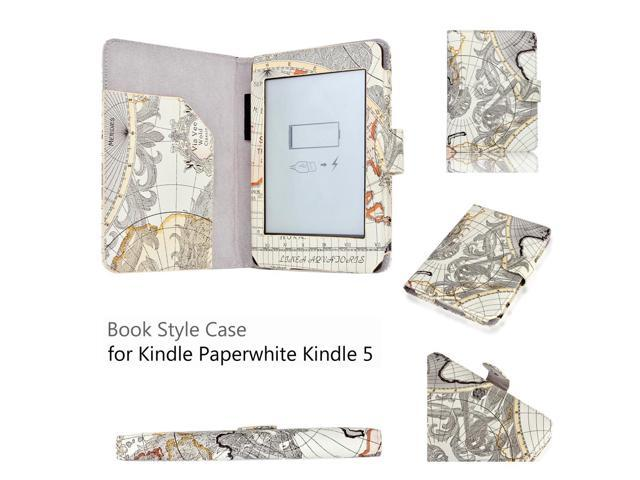 Kindle Paperwhite 5 & 4 Case - Slim Fit Folio PU Leather Smart Cover Case  For Amazon Kindle Paperwhite 2012 2013 Model 6