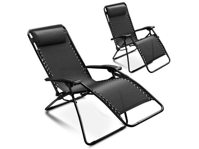 Zero Gravity Chair Adjustable Folding Lounge Recliner By