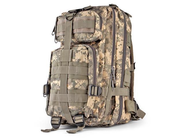 68fd0ffec96f Tactical Backpack (ACU) Outdoor Military Unisex Rucksack Travel Molle  Daypack Bag 30 L Capacity