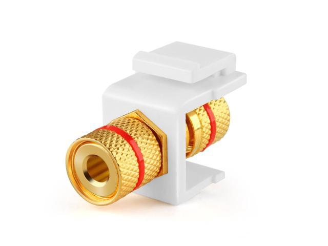 banana jack keystone insert speaker banana connector socket female port screw type binding post snap in adapter inline coupler for wall plate outletSpeaker Cable Wire Connector Wiring Audio Keystone Insert Buy Wire #7