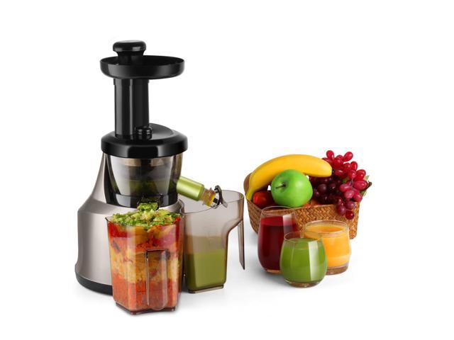 Cold Press Juicer Machine Masticating Juicer Slow Juice Extractor Maker Electric Juicing Vertical Stand For Fruit Vegetable Greens Wheat Grass