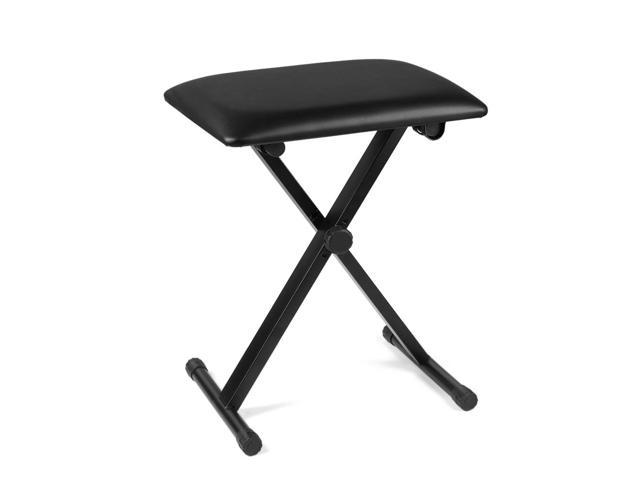 Miraculous Piano Bench Keyboard Bench Height Adjustable Foldable X Style Padded Stool Chair Seat Cushion With Anti Slip Rubber Feet Perfect For Kids Adult Theyellowbook Wood Chair Design Ideas Theyellowbookinfo
