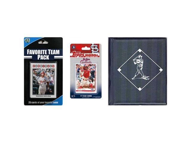 Ci Collectables 2019stlcardtsc Mlb St Louis Cardinals Licensed 2019 Topps Team Set Favorite Player Trading Cards Plus Storage Album Neweggcom