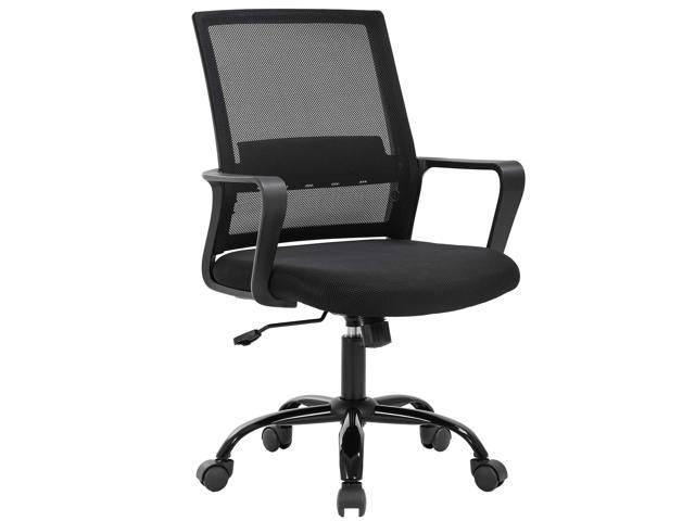 Home Office Chair Ergonomic Cheap Desk Chair Swivel Rolling Computer Chair Executive Lumbar Support Task Mesh Chair Adjustable Stool For Women Men Black Newegg Com