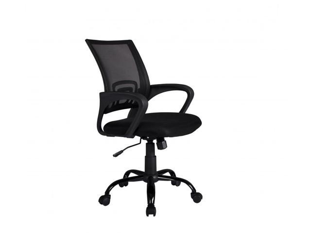 black ergonomic mesh computer office desk midback task chair w metal