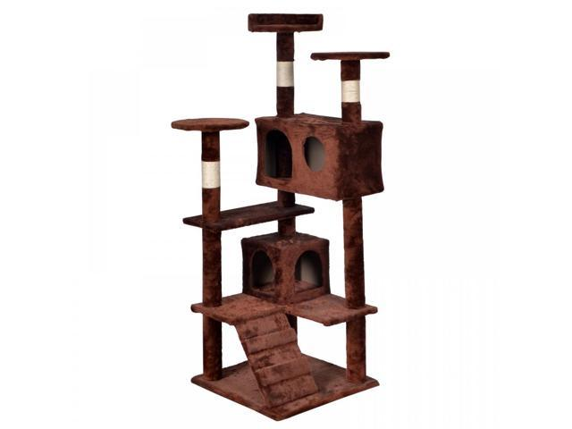 BestPet Cat Tree Tower Condo Furniture Scratch Post Kitty Pet House  CT T52 Brown