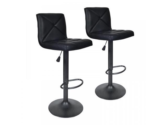 the latest cf1e2 bd9d9 Black 2 PU Leather Modern Adjustable Swivel Barstools Hydraulic Chair Bar  Stools - Newegg.com