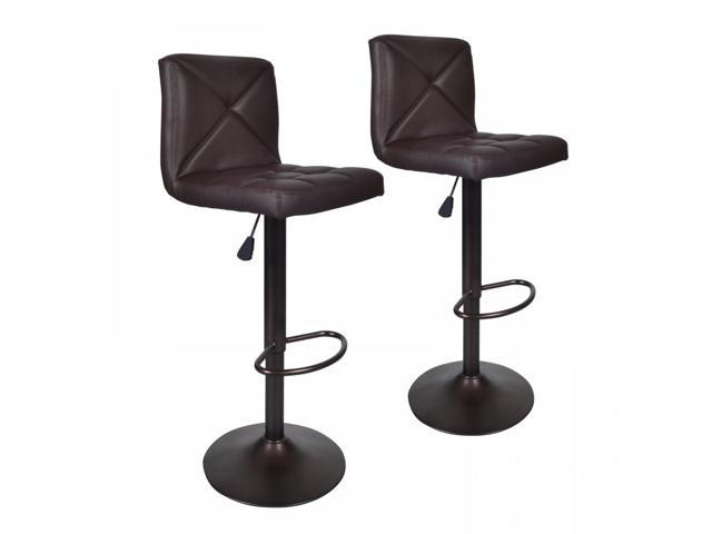 Prime Brown 2 Pu Leather Modern Adjustable Swivel Barstools Hydraulic Chair Bar Stools Inzonedesignstudio Interior Chair Design Inzonedesignstudiocom