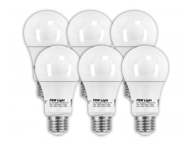 75 Watt Equivalent Slimstyle A19 Led Light Bulb 2700k 6 Pack 756