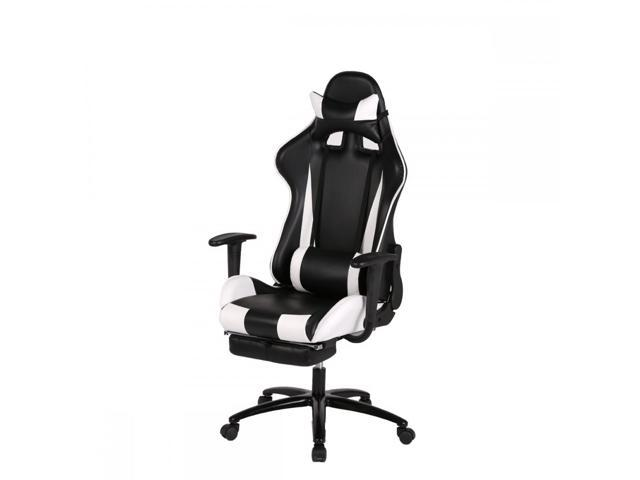 BestMassage RC1 Gaming Chair High Back Computer Ergonomic Design Racing  Chair   White
