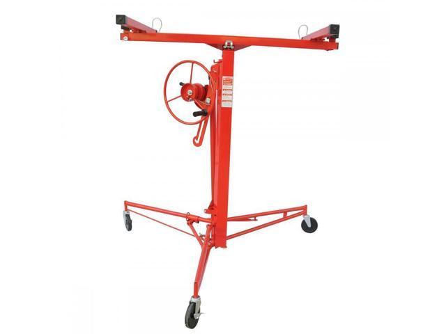 11FT Drywall Panel Hoist Dry Wall Rolling Caster Lifter Construction ...