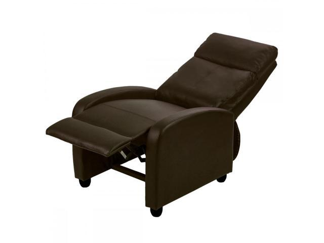 Awesome Brown Modern Leather Chaise Couch Single Recliner Chair Sofa Furniture 87 Newegg Com Onthecornerstone Fun Painted Chair Ideas Images Onthecornerstoneorg
