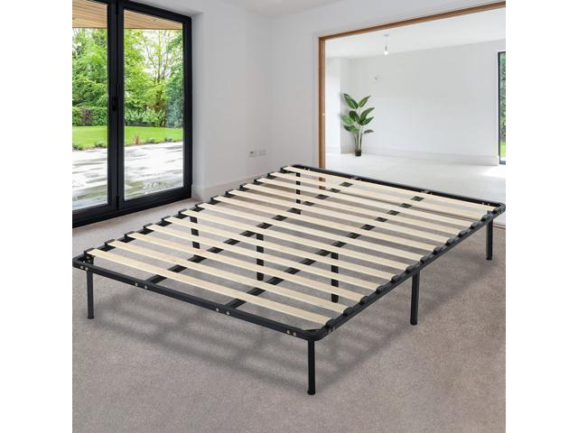 wholesale dealer 6b23f 46377 Platform Bed Frame Mattress Foundation Queen Size Metal Bed Base Heavy Duty  Wood Slat With Bedroom No Box Spring Needed - Newegg.com
