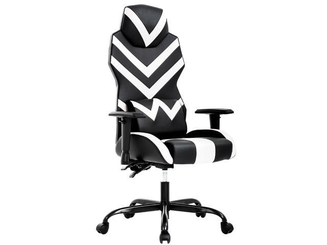Astounding High Back Gaming Chair Pc Office Chair Computer Racing Chair Pu Desk Task Chair Ergonomic Executive Swivel Rolling Chair With Lumbar Support For Back Andrewgaddart Wooden Chair Designs For Living Room Andrewgaddartcom