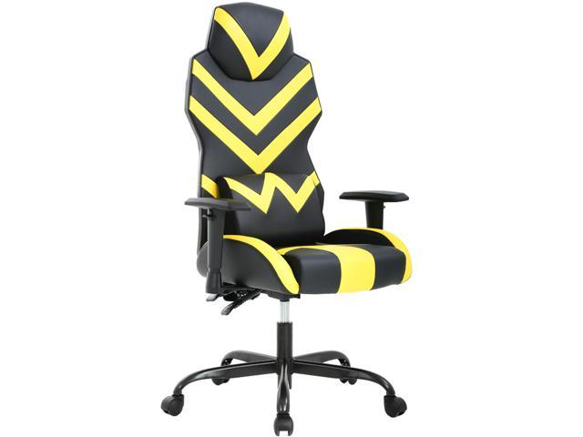 Peachy Gaming Chair Racing Office Chair Ergonomic Lumbar Support Adjustable Armrest Rolling Swivel Chair Computer Desk Task Chair For Home Office Yellow Caraccident5 Cool Chair Designs And Ideas Caraccident5Info