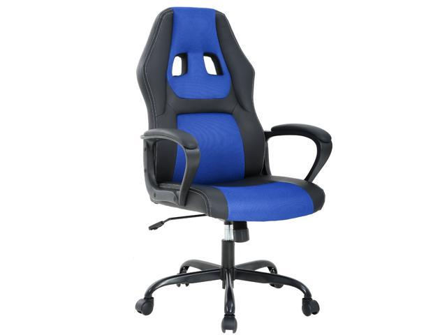 Pleasant Ergonomic Office Chair Cheap Desk Chair Pc Gaming Chair Rolling Pu Leather Swivel Chair Executive Computer Chair Lumbar Support For Women Men Blue Cjindustries Chair Design For Home Cjindustriesco