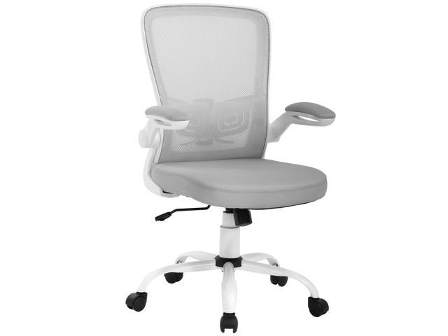 Pleasant Office Chair Ergonomic Cheap Desk Chair Mesh Computer Chair Back Support Mid Back Executive Chair Task Rolling Swivel Chair For Back Pain Grey Evergreenethics Interior Chair Design Evergreenethicsorg