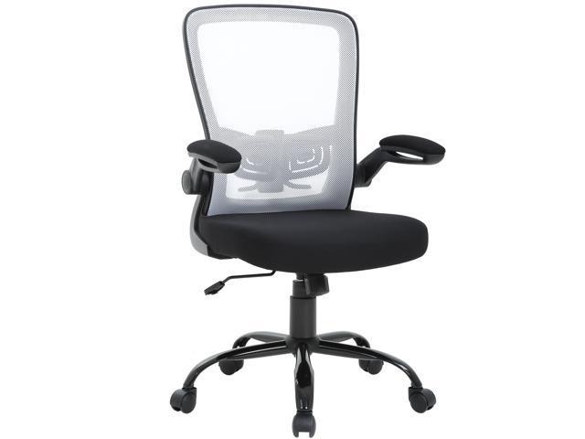 Mid Back Office Chair Ergonomic Cheap Desk Chair Mesh Computer Chair Back  Support Modern Executive Metal Base Rolling Swivel Chair for women&men,