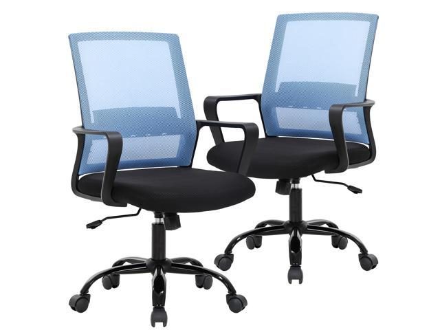 Home Office Chair Ergonomic Cheap Desk Chair Swivel Rolling Computer Chair Executive Lumbar Support Task Mesh Chair Adjustable Stool For Women Men 2 Pack Newegg Com