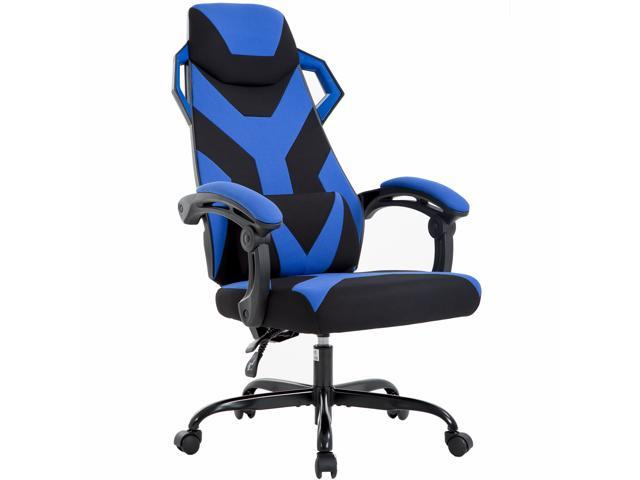 Peachy Ergonomic Gaming Chair Racing Office Chair High Back Fabric Desk Chair Executive Swivel Rolling Computer Chair Lumbar Support For Back Pain Blue Evergreenethics Interior Chair Design Evergreenethicsorg