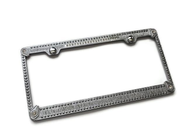 Crystal Rhinestone Bling License Plate Frame Metal Mirror Chrome BMW ...
