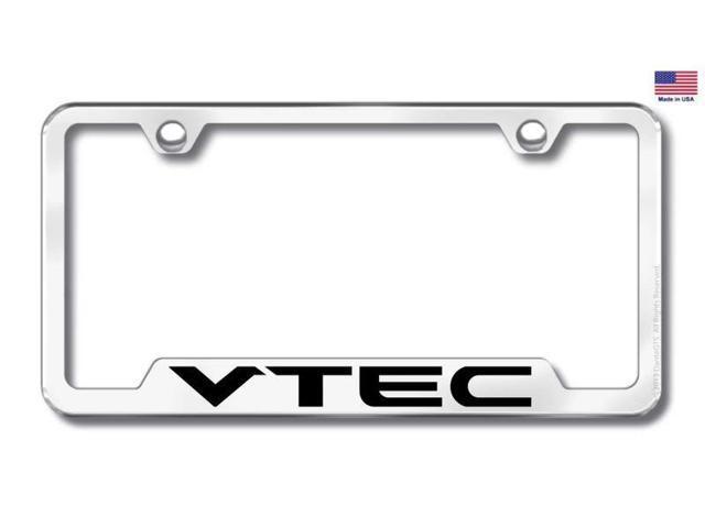 Honda Acura VTEC License Plate Frame Laser Etched Stainless Steel - Acura license plate frame
