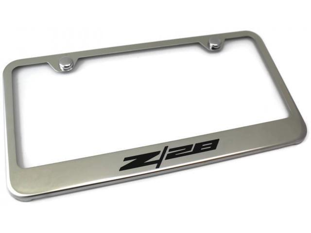 Chevrolet Camaro License Plate Frame Laser Etched Stainless Steel ...