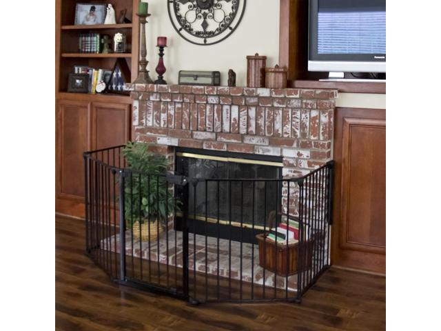 Best Choice Products Baby Safety Fence Hearth Gate Bbq Fire Fireplace Metal Plastic