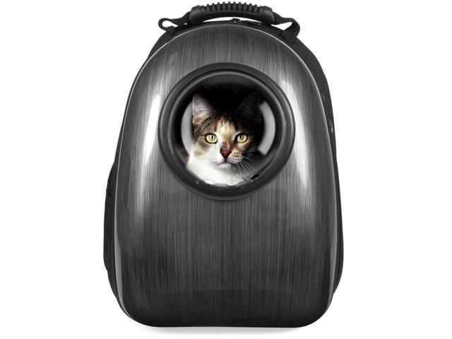 Best Choice Products Pet Carrier Space Capsule Backpack w/ Bubble Window  for Cats, Dogs, Small Animals - Charcoal Gray - Newegg com