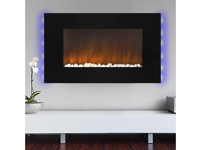 Best Choice Products 1500w Heat Adjule 36 Wall Mount Electric Fireplace Heater Multi Color Led Backlight