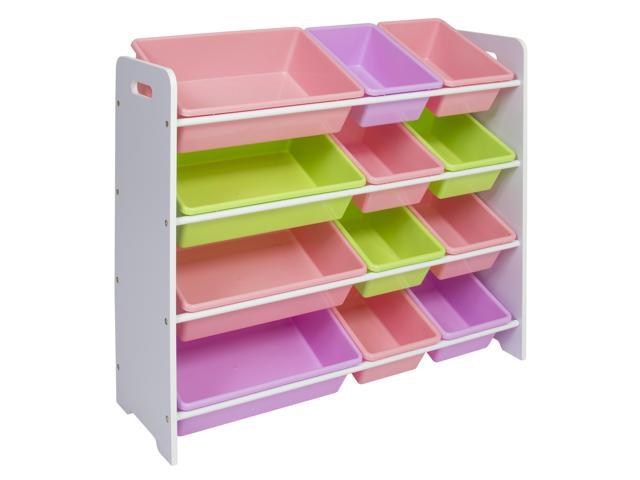 Best Toy Storage Containers : Best choice products tier kids playroom wood toy storage