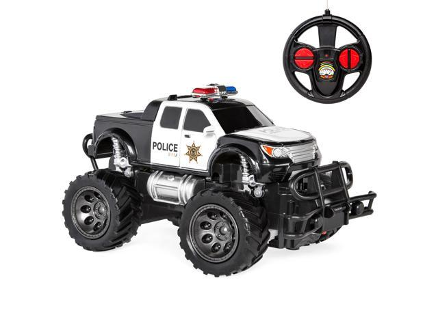 Best Choice Products Kids 1 24 Scale Rc Swat Remote Control Police Car Monster Truck Toy W Lights Climbing Style Tires Newegg Com