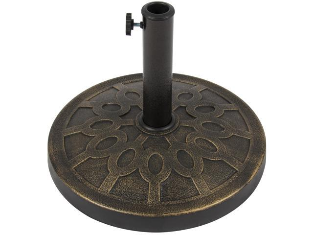 Best Choice Products 18in Round Steel Heavy Duty Patio Umbrella Base