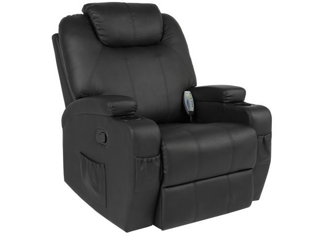 Best Choice Products Executive Swivel Mage Recliner Chair W Remote Control 5 Modes 2 Cup Holders Black Newegg
