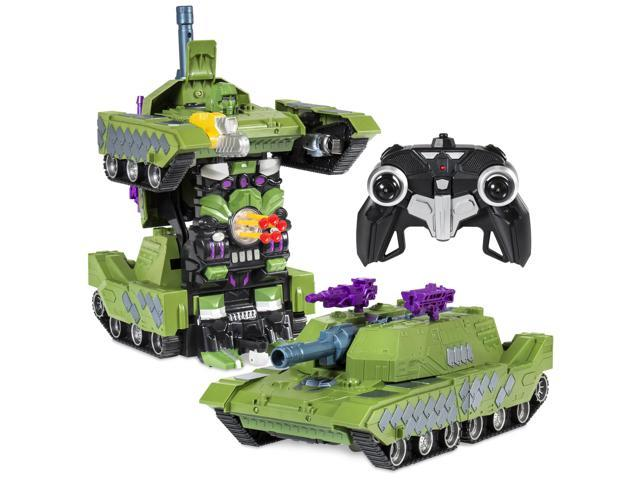 Best Choice Products Toy Transformer RC Robot Tank Remote Control Car w/  USB Charger - Green - Newegg com