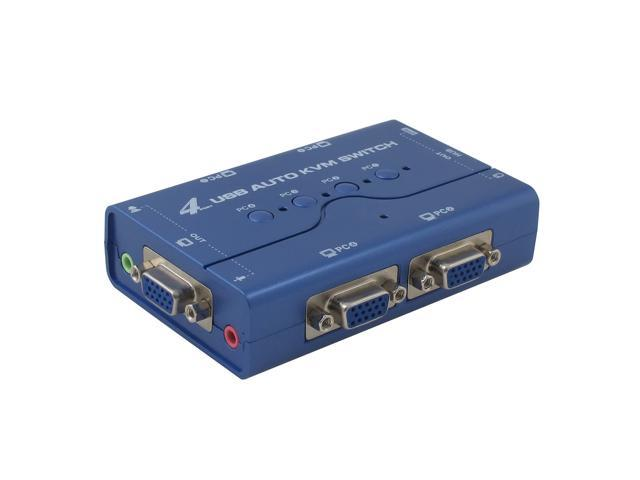 Syba SY-KVM20108 4 Port DVI and USB 2.0 KVM Switch with Audio support