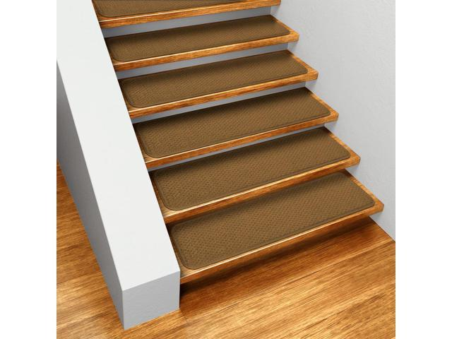 Set of 15 Skid-resistant Carpet Stair Treads - Bronze Gold - 8 In  X 30 In   - Newegg com