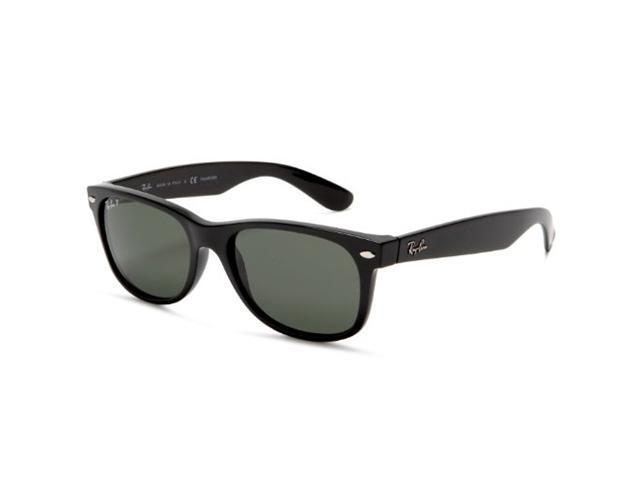 Ray-Ban RB2132 901 New Wayfarer Sunglasses - (55mm) Black Frame   Green 395a6d79b3