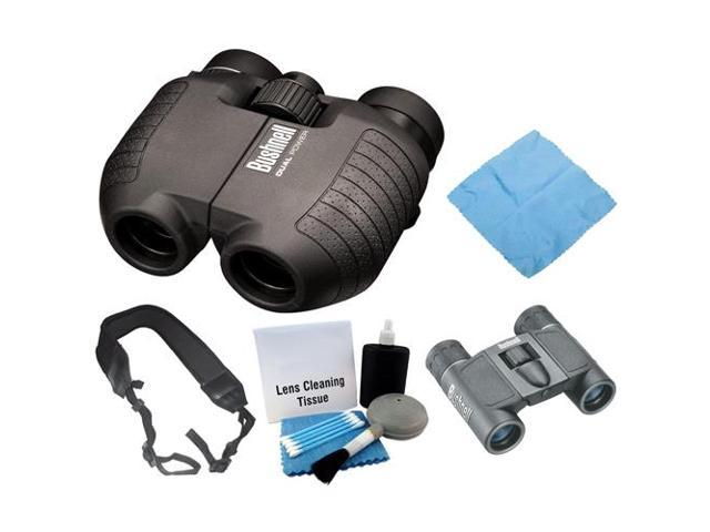 Bushnell 1751030 Spectator 5 10x 25mm Dual Power Binoculars Black Powerview 8x21mm Folding