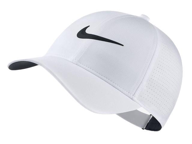9e5ee52d5 Nike AeroBill Legacy 91 Adjustable Women's Golf Cap (White/Black) -  Newegg.com