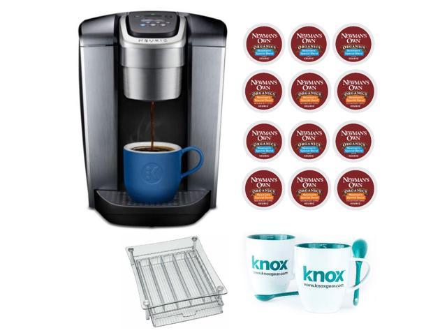 Keurig K-Elite Single Serve Coffee Maker (Brushed Slate) with K-Cups Bundle  - Newegg com