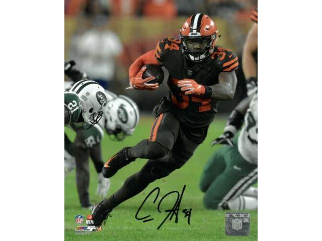 best loved cbea5 dbc05 Carlos Hyde signed Cleveland Browns 8x10 Photo #34 (brown jersey) -  Newegg.com