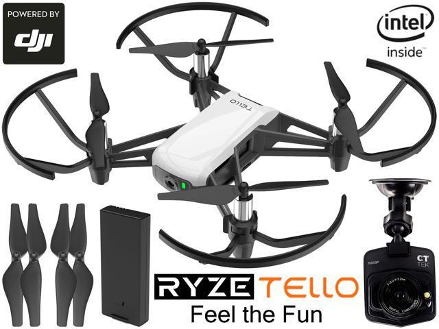 RYZE Tello Quadcopter Drone with FREE CT-Tek Dash Cam Bundle - Newegg com